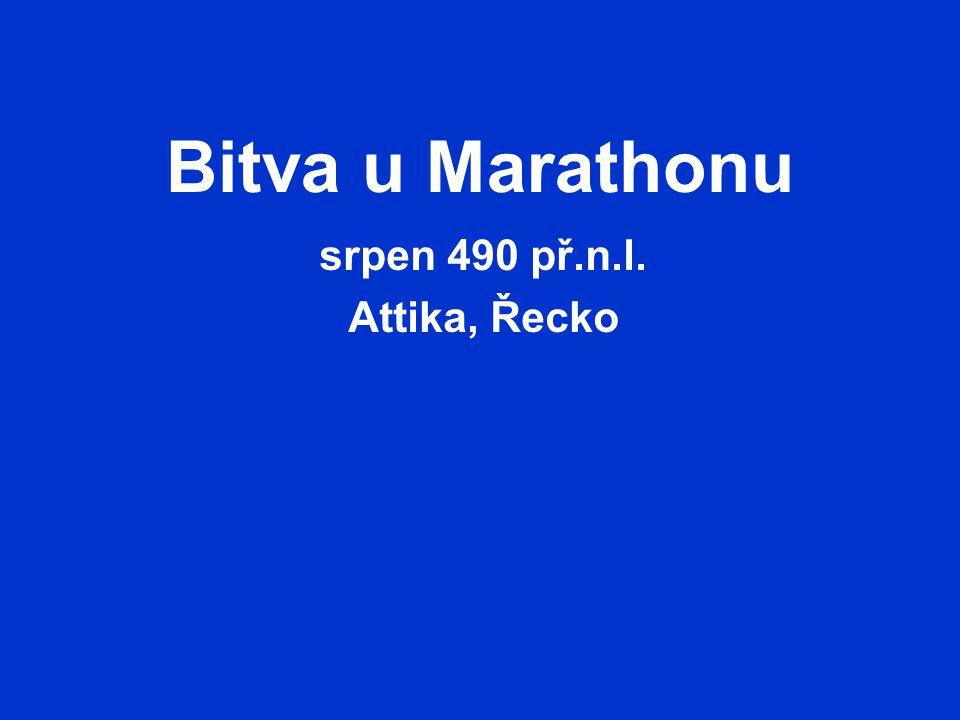 srpen 490 př.n.l. Attika, Řecko