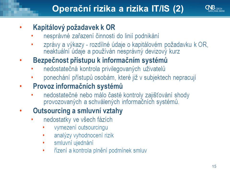 Operační rizika a rizika IT/IS (2)