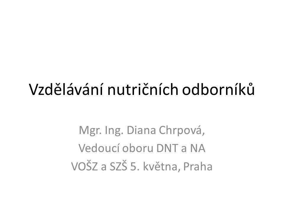 Vzdělávání nutričních odborníků