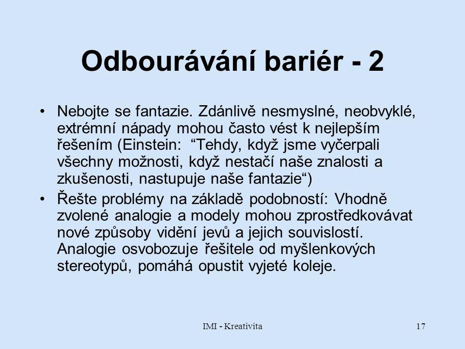 Odbourávání bariér - 2