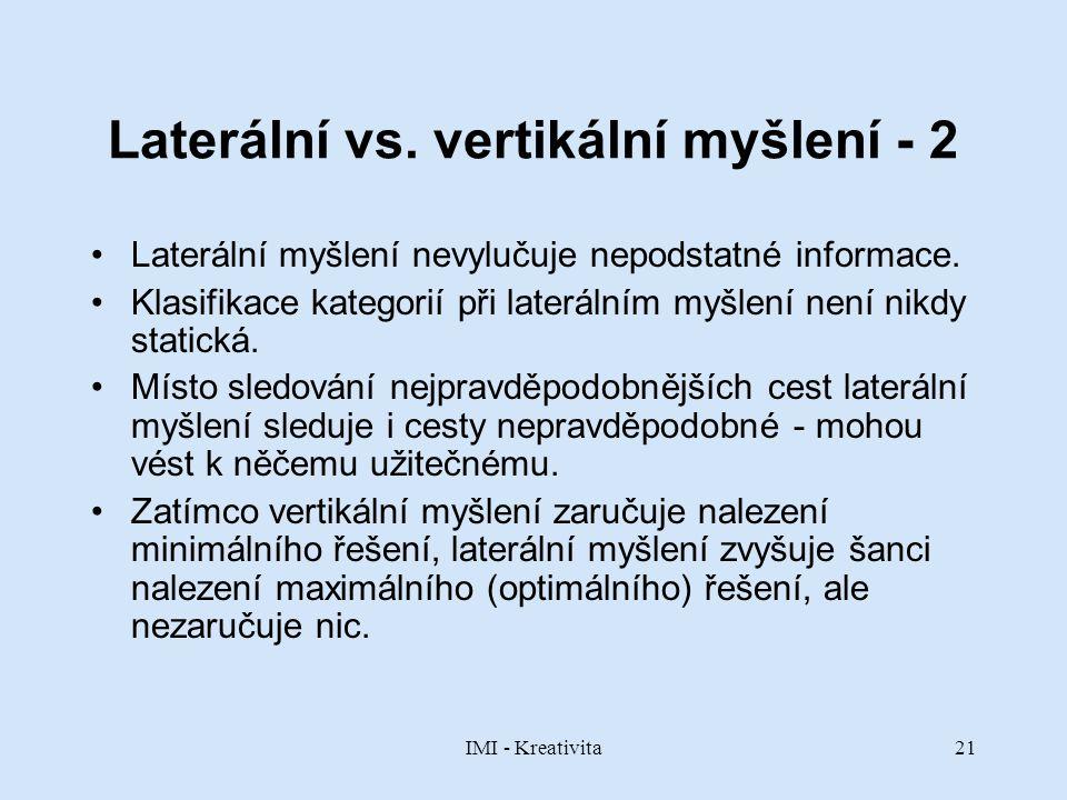 Laterální vs. vertikální myšlení - 2