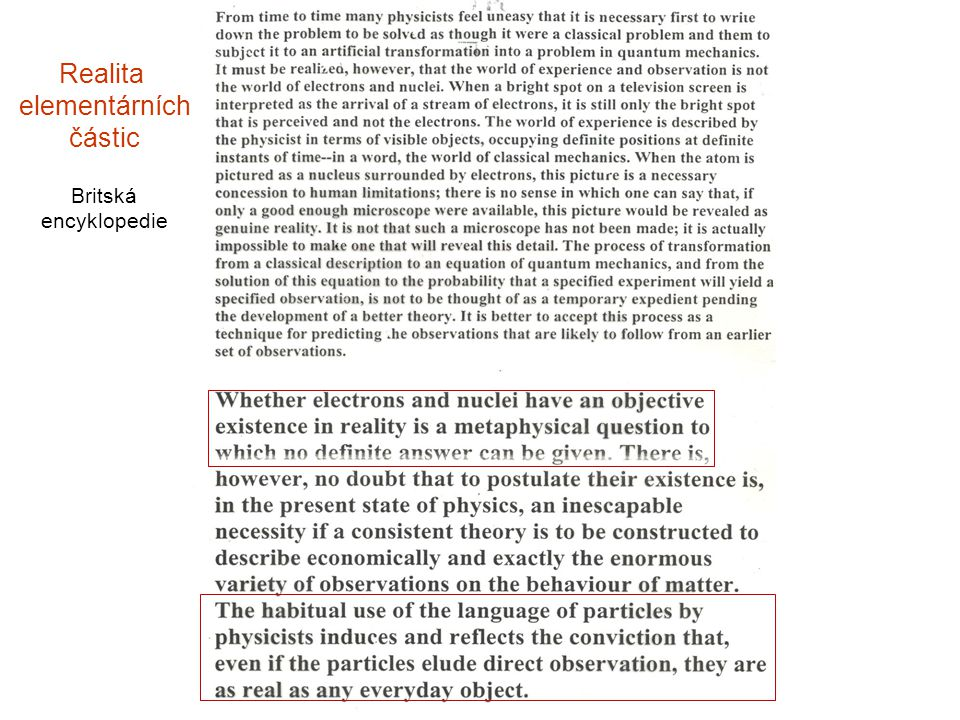 Realita elementárních částic Britská encyklopedie