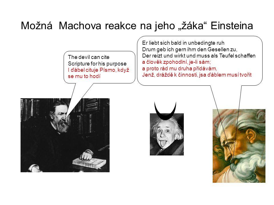 "Možná Machova reakce na jeho ""žáka Einsteina"