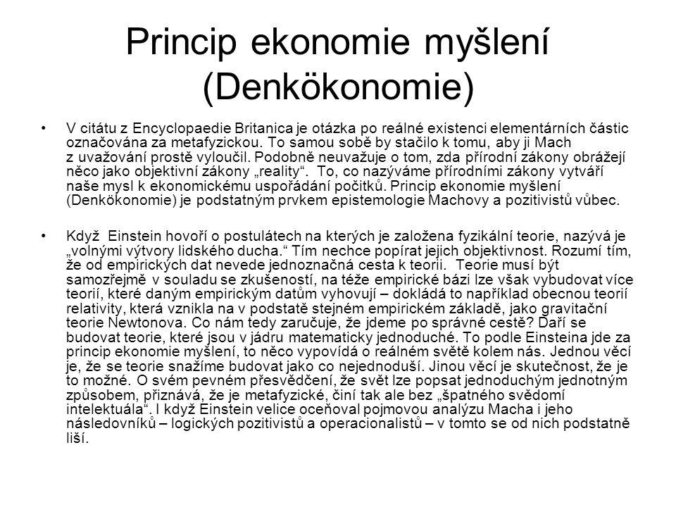 Princip ekonomie myšlení (Denkökonomie)