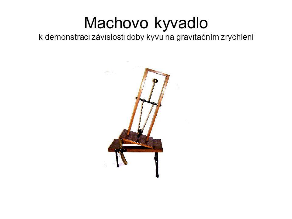 Machovo kyvadlo k demonstraci závislosti doby kyvu na gravitačním zrychlení