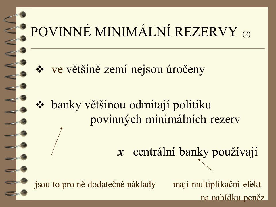 POVINNÉ MINIMÁLNÍ REZERVY (2)