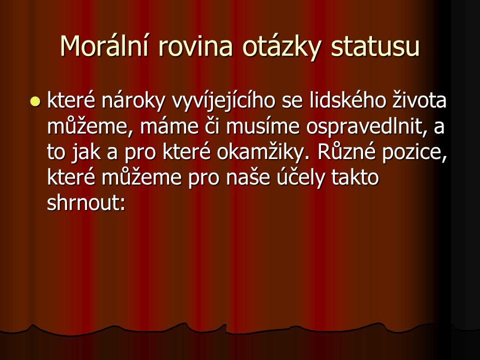 Morální rovina otázky statusu