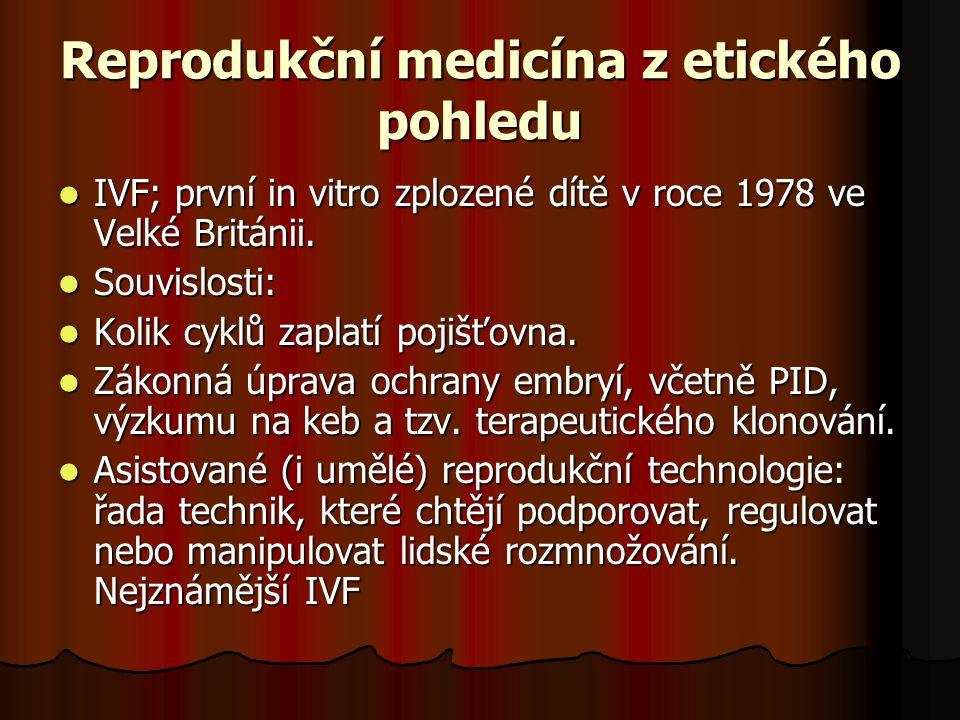 Reprodukční medicína z etického pohledu