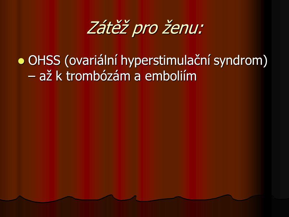 Zátěž pro ženu: OHSS (ovariální hyperstimulační syndrom) – až k trombózám a emboliím