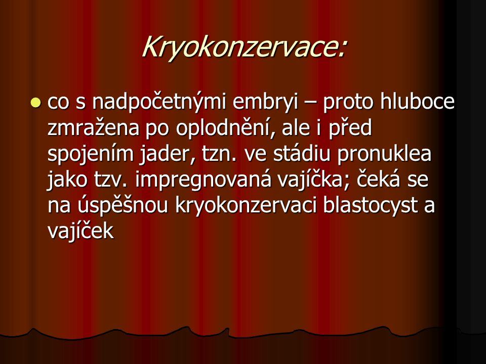 Kryokonzervace: