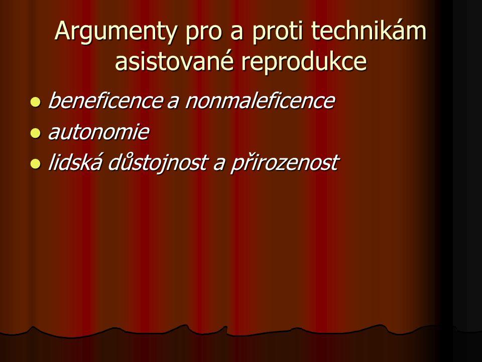 Argumenty pro a proti technikám asistované reprodukce