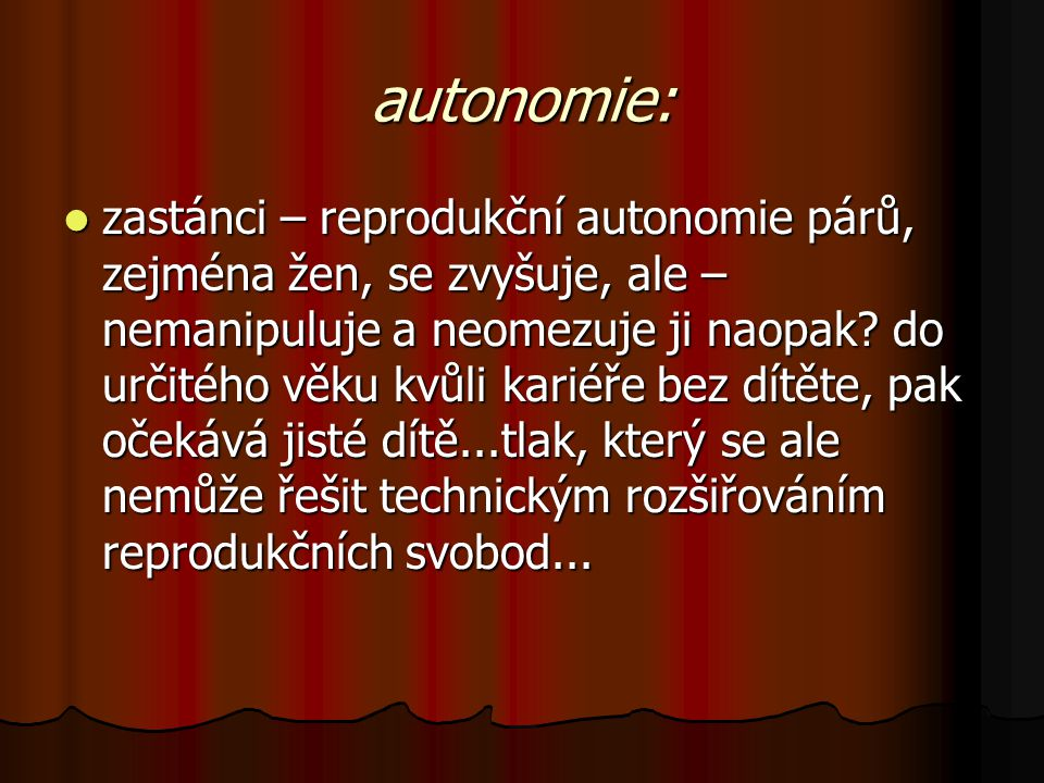 autonomie:
