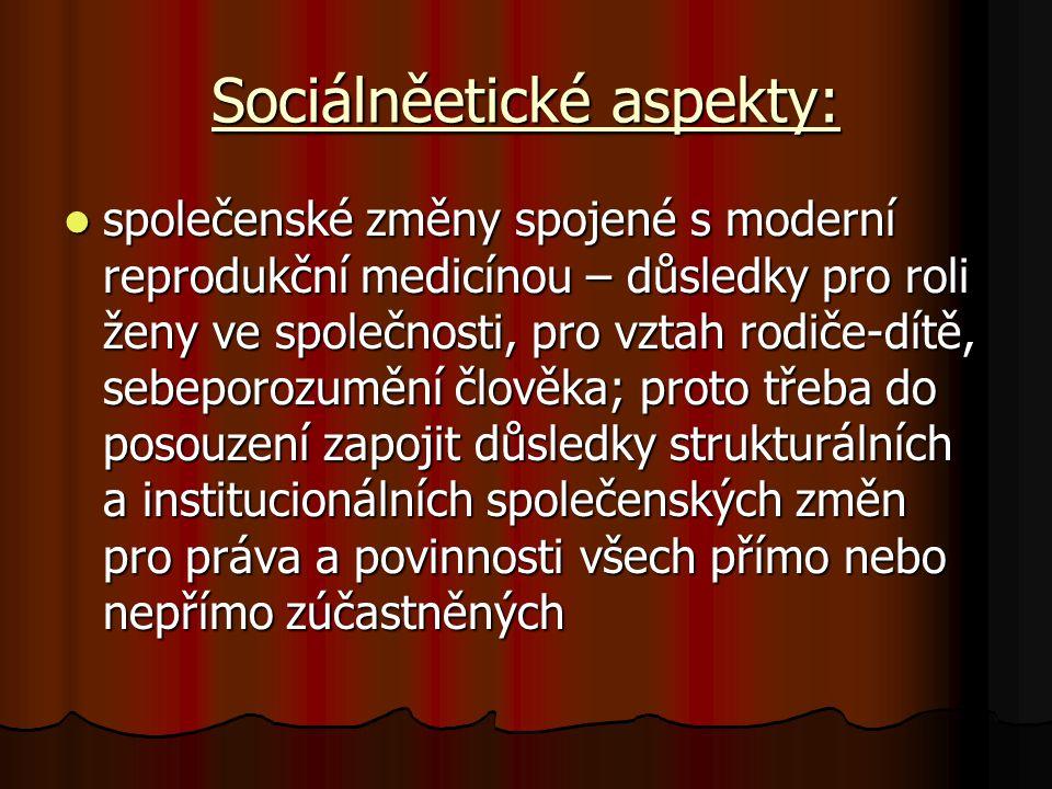 Sociálněetické aspekty: