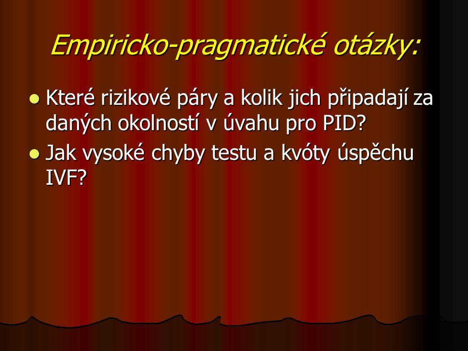 Empiricko-pragmatické otázky: