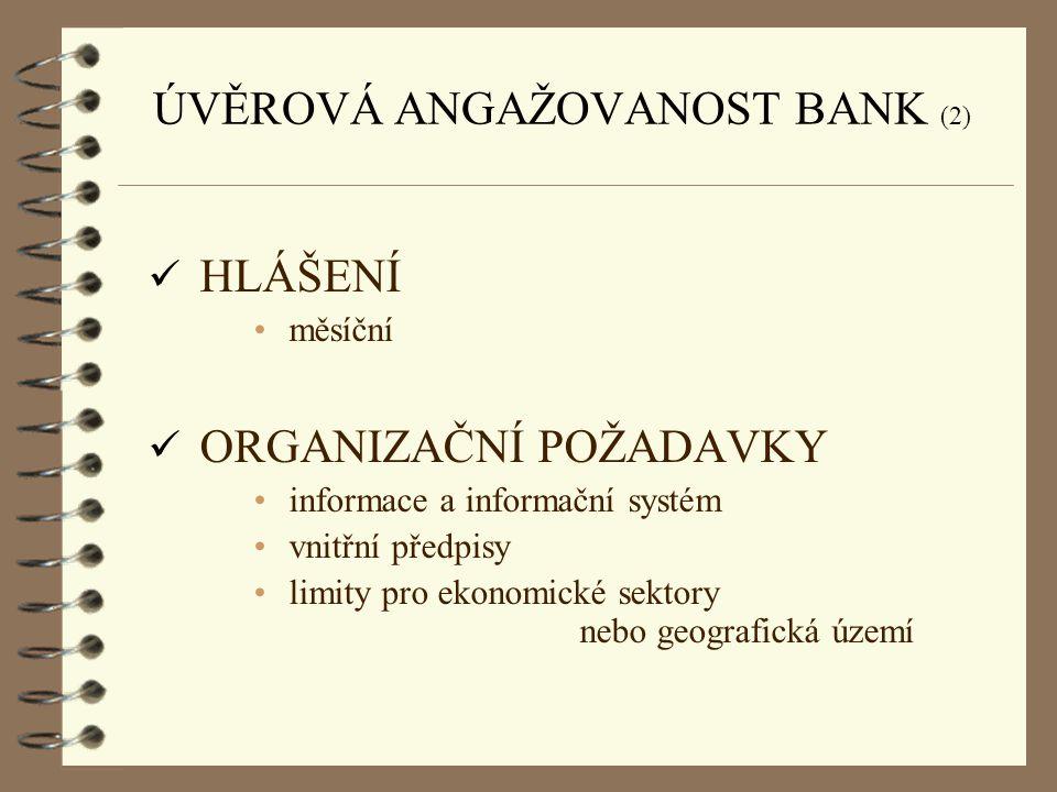 ÚVĚROVÁ ANGAŽOVANOST BANK (2)