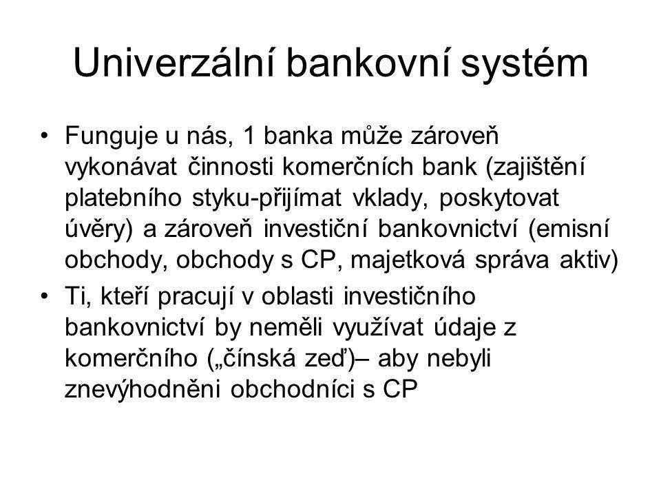 Univerzální bankovní systém