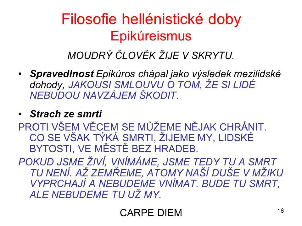Filosofie hellénistické doby Epikúreismus