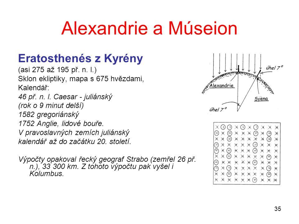 Alexandrie a Múseion Eratosthenés z Kyrény (asi 275 až 195 př. n. l.)