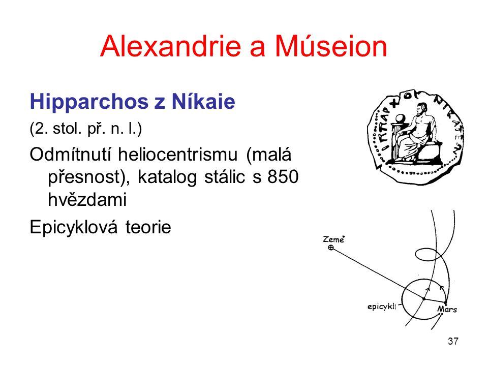 Alexandrie a Múseion Hipparchos z Níkaie