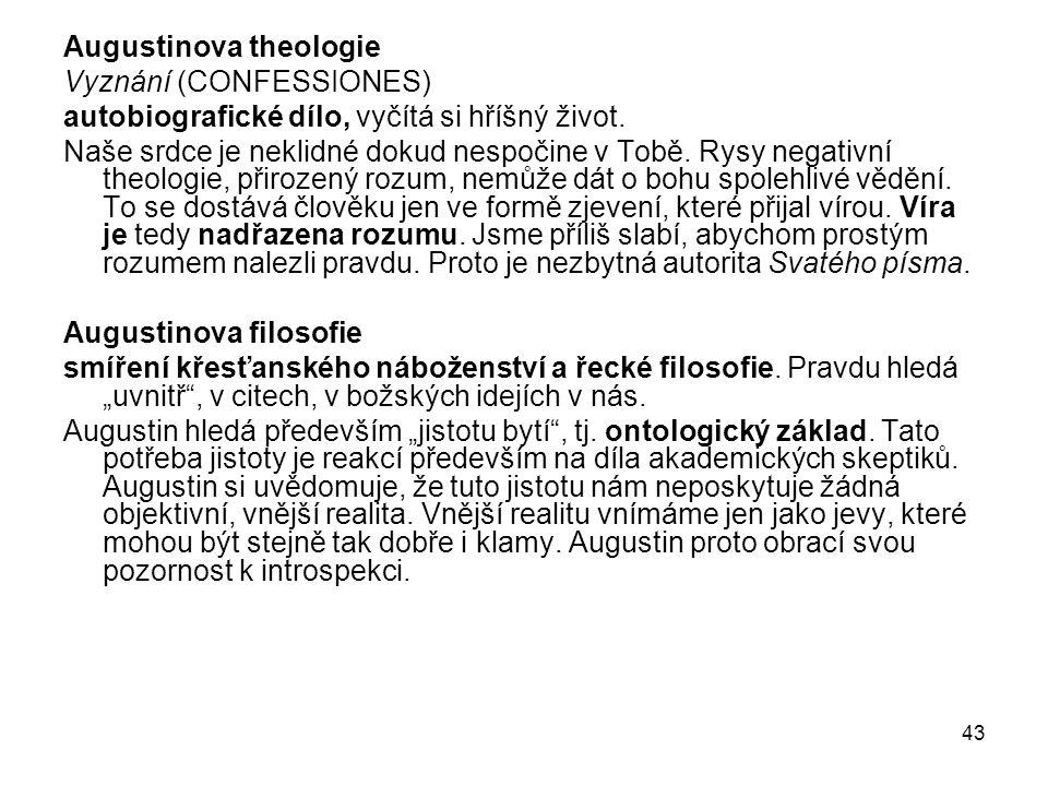 Augustinova theologie