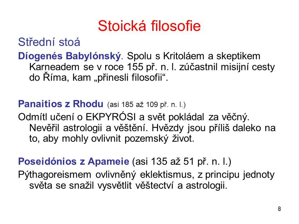 Stoická filosofie Střední stoá