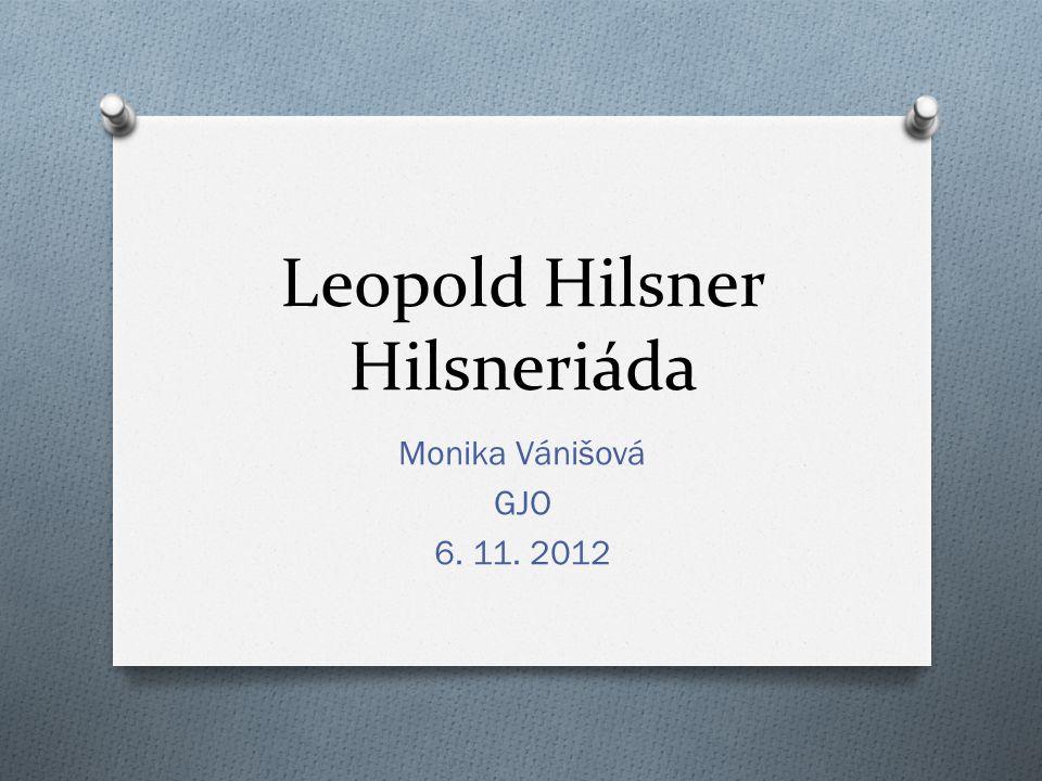 Leopold Hilsner Hilsneriáda