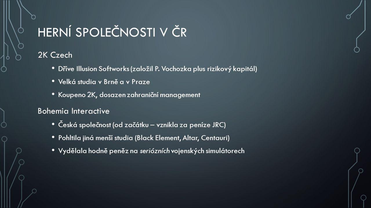 Herní společnosti v ČR 2K Czech Bohemia Interactive