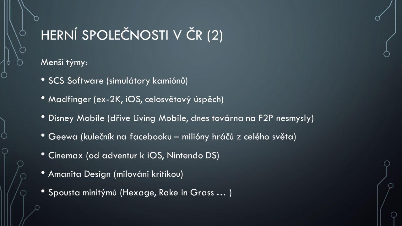 Herní společnosti v ČR (2)