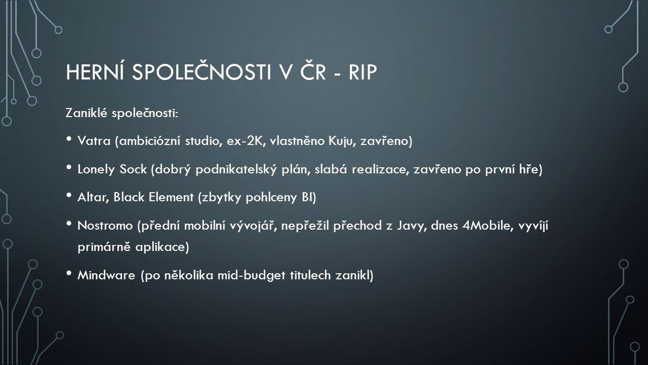 Herní společnosti v ČR - RIP