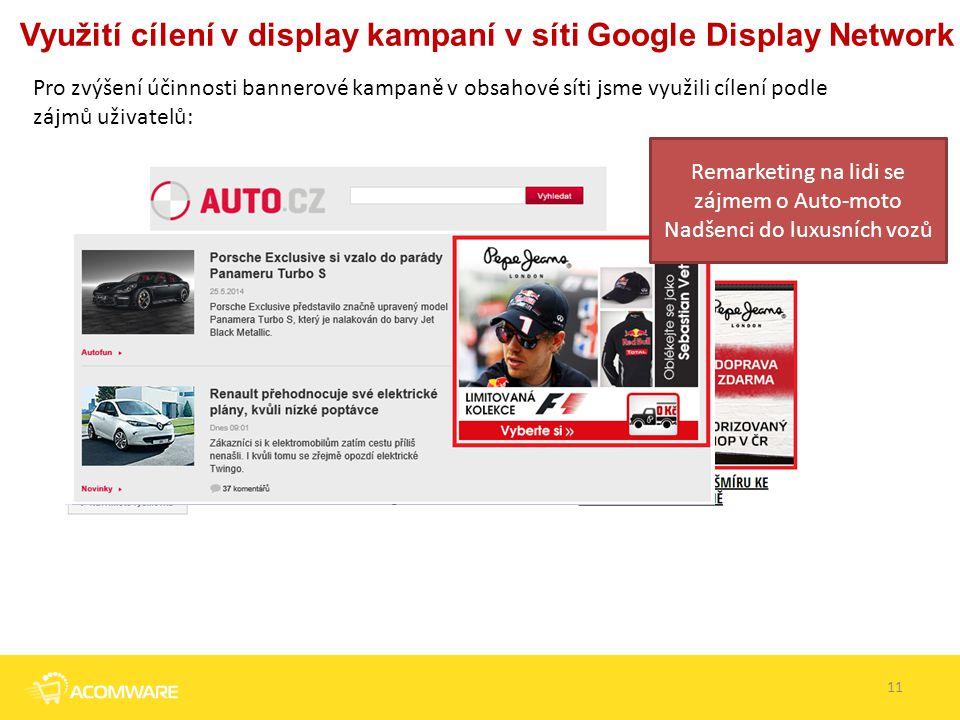 Využití cílení v display kampaní v síti Google Display Network
