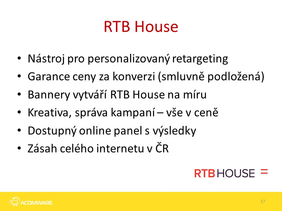 RTB House Nástroj pro personalizovaný retargeting