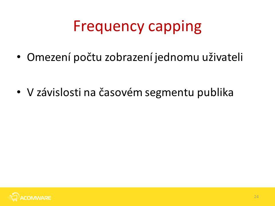 Frequency capping Omezení počtu zobrazení jednomu uživateli