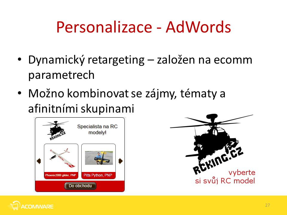 Personalizace - AdWords