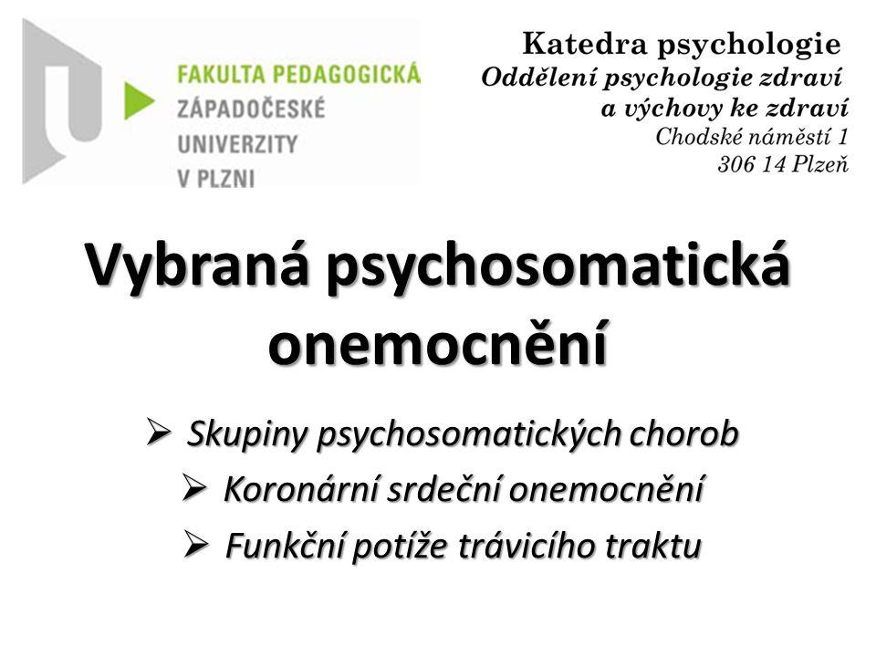 Vybraná psychosomatická onemocnění