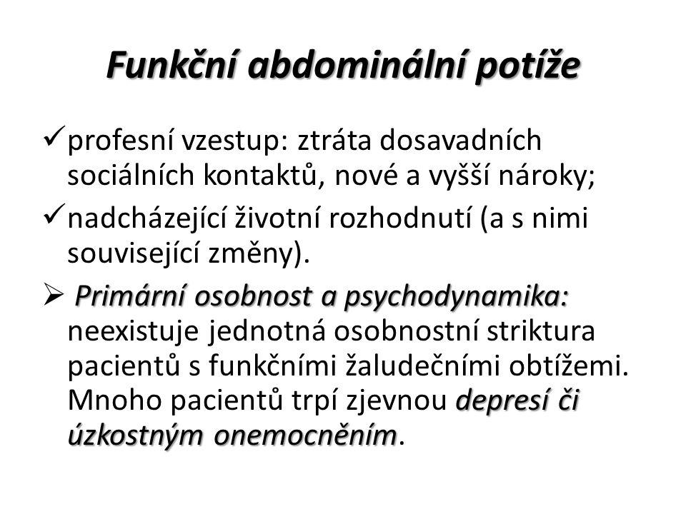 Funkční abdominální potíže