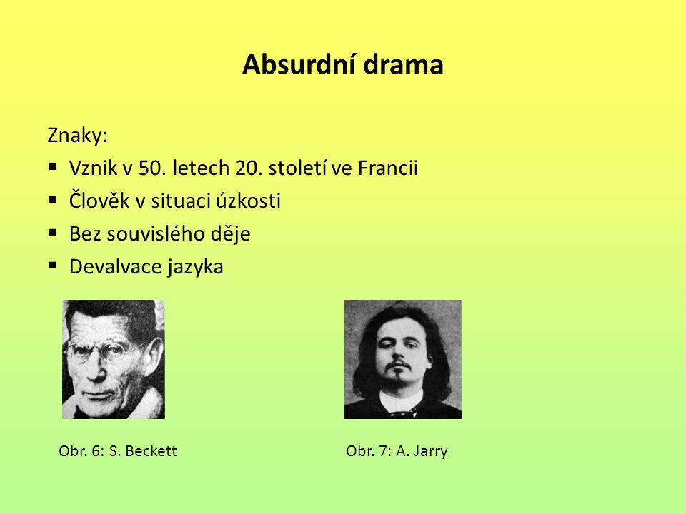 Absurdní drama Znaky: Vznik v 50. letech 20. století ve Francii