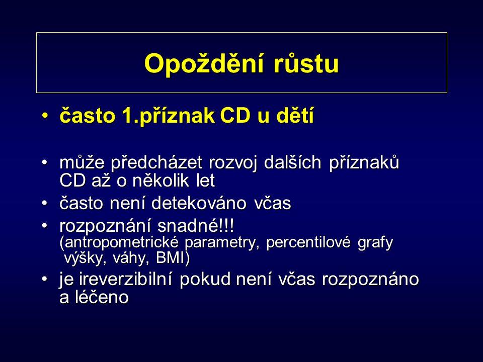 Opoždění růstu často 1.příznak CD u dětí