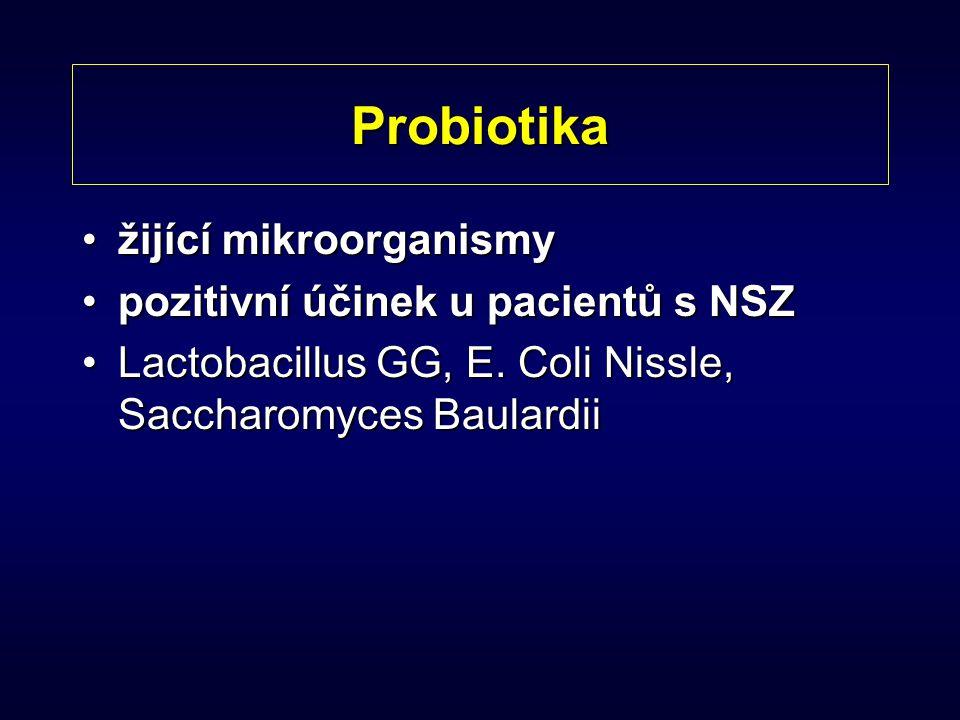 Probiotika žijící mikroorganismy pozitivní účinek u pacientů s NSZ
