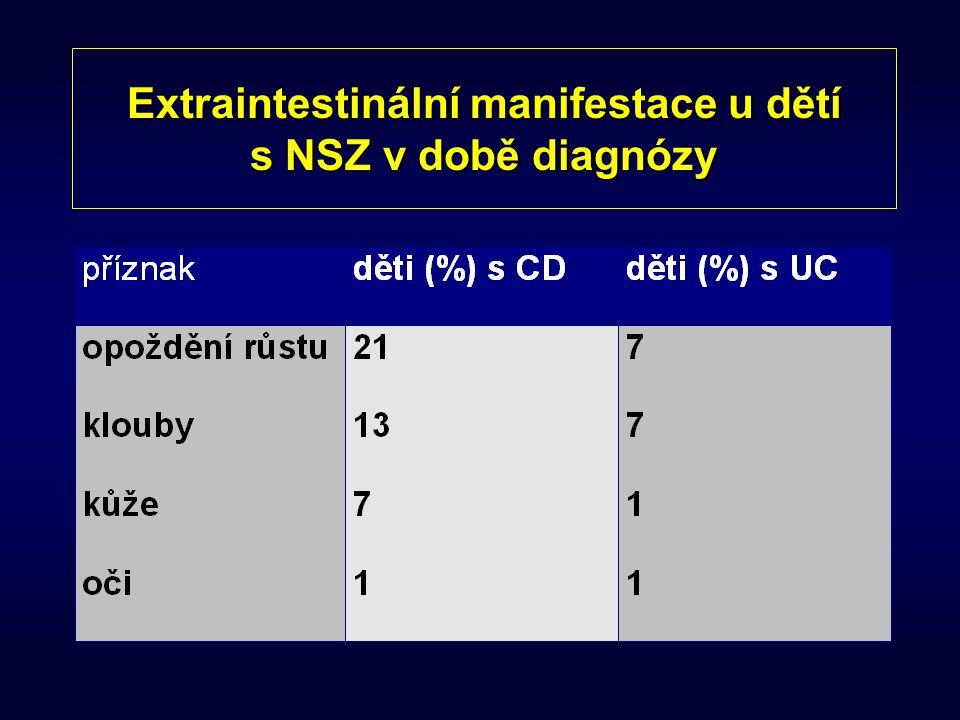 Extraintestinální manifestace u dětí s NSZ v době diagnózy
