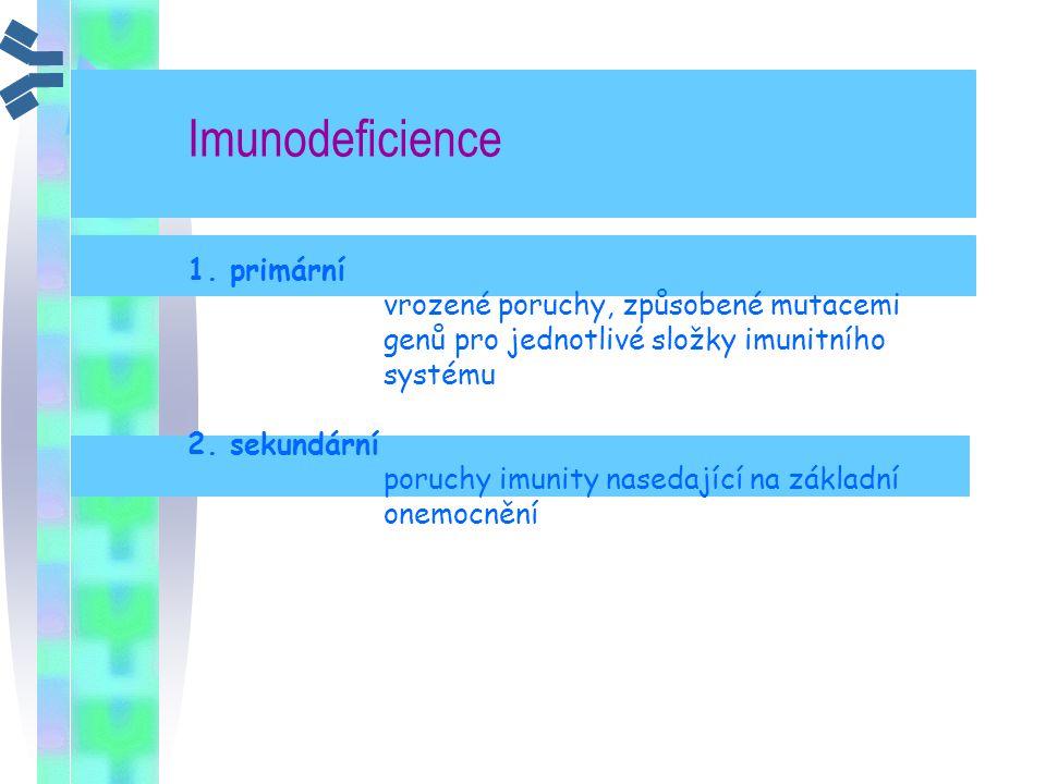 Imunodeficience 1. primární