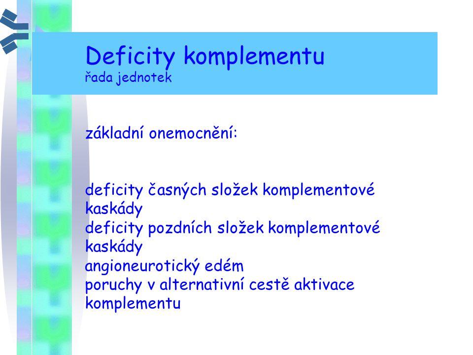 Deficity komplementu základní onemocnění: