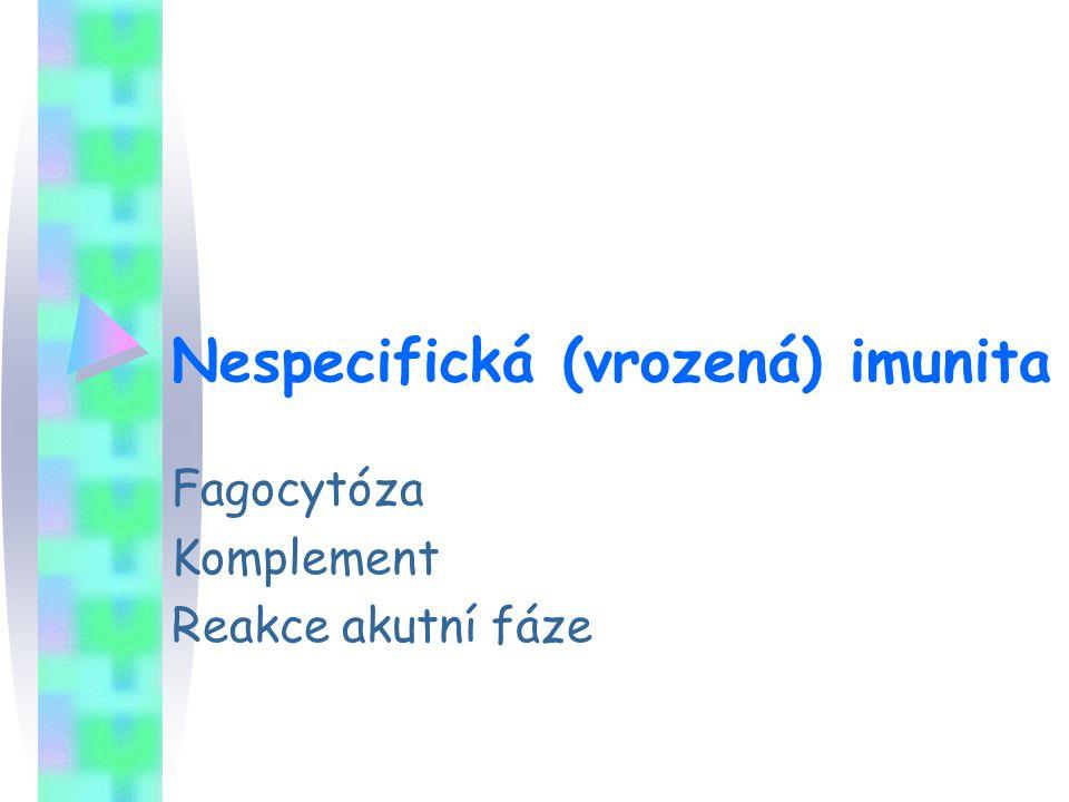 Nespecifická (vrozená) imunita