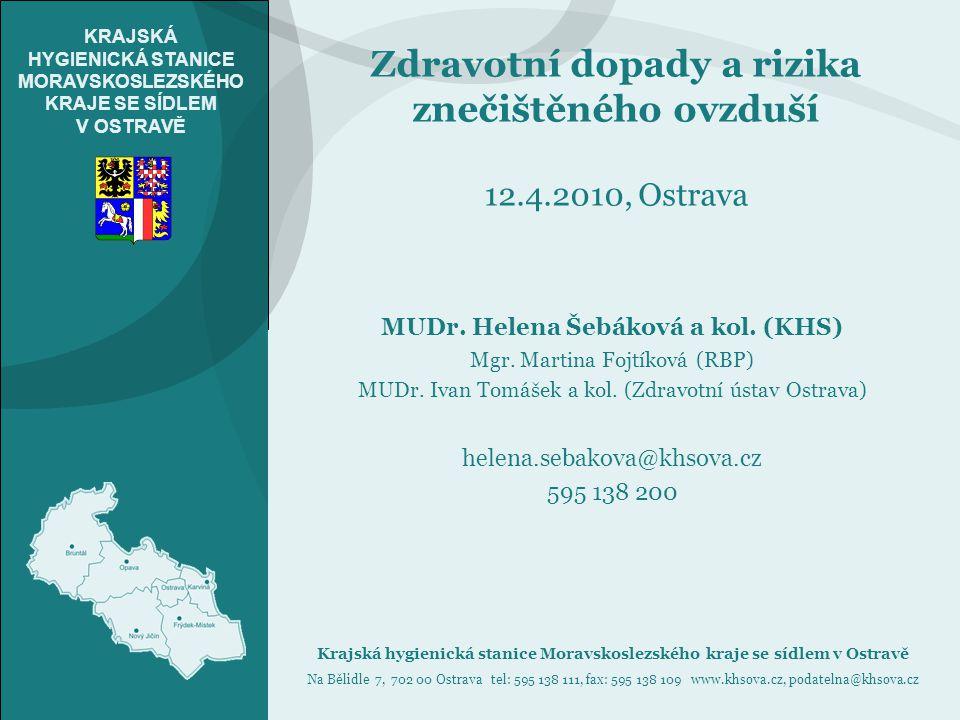 Zdravotní dopady a rizika znečištěného ovzduší 12.4.2010, Ostrava