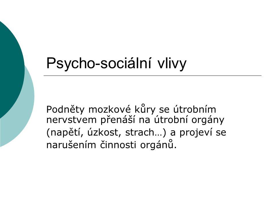 Psycho-sociální vlivy
