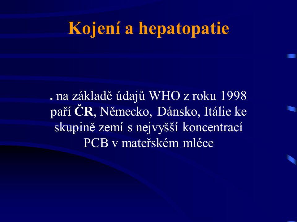 Kojení a hepatopatie .