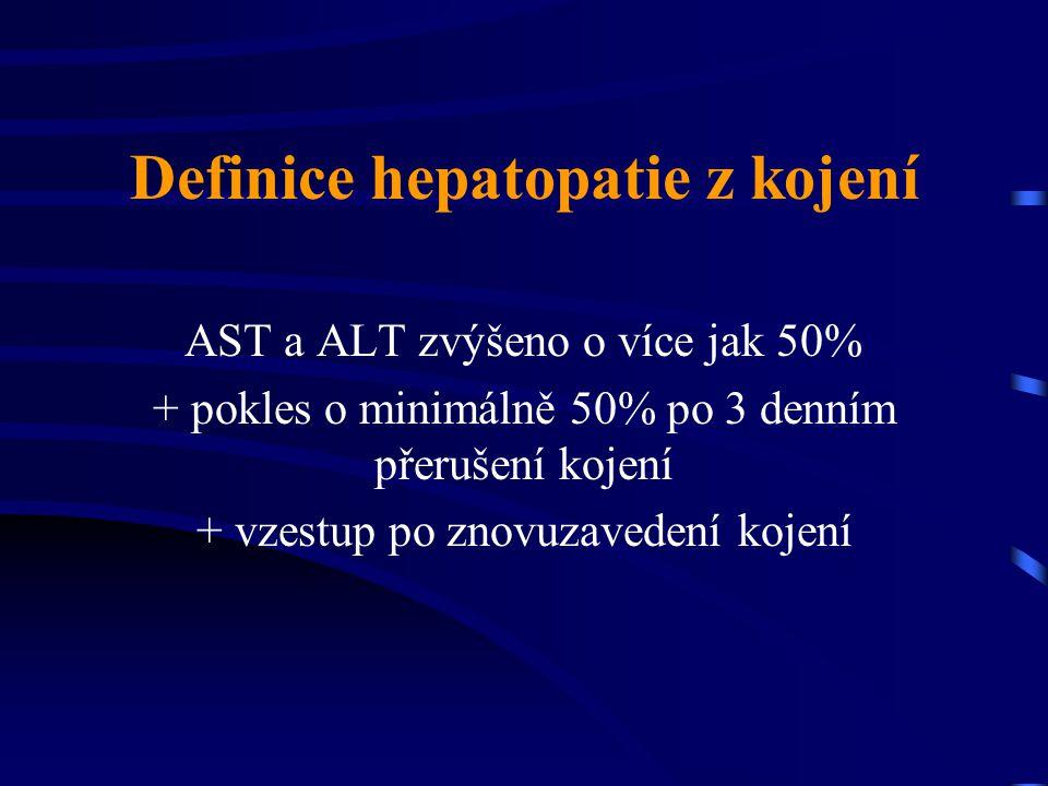 Definice hepatopatie z kojení