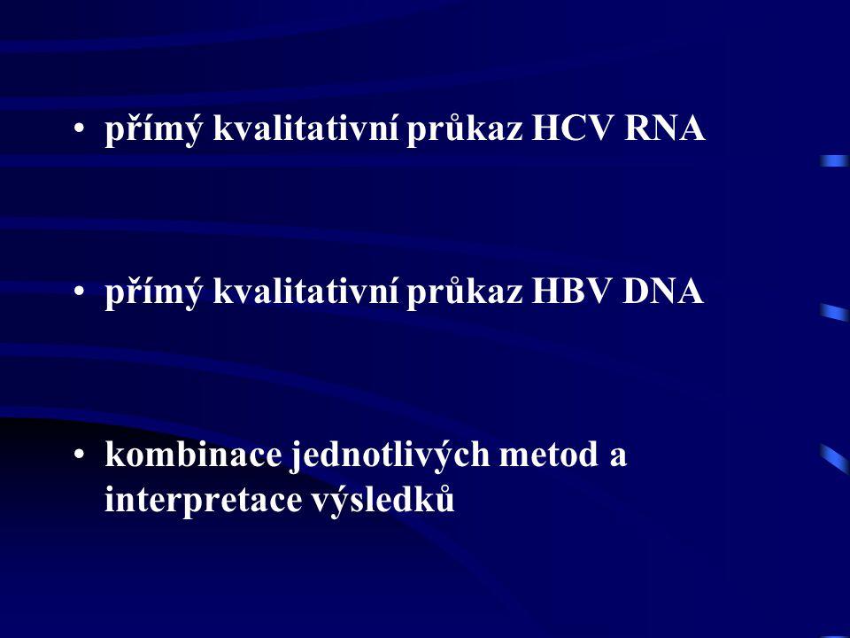přímý kvalitativní průkaz HCV RNA