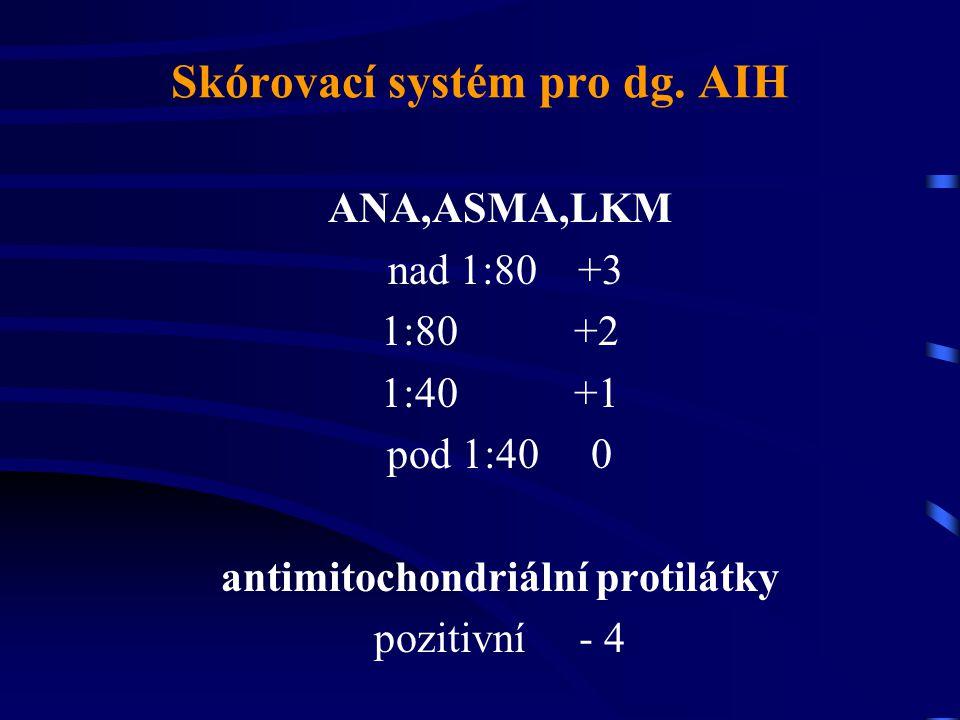 Skórovací systém pro dg. AIH