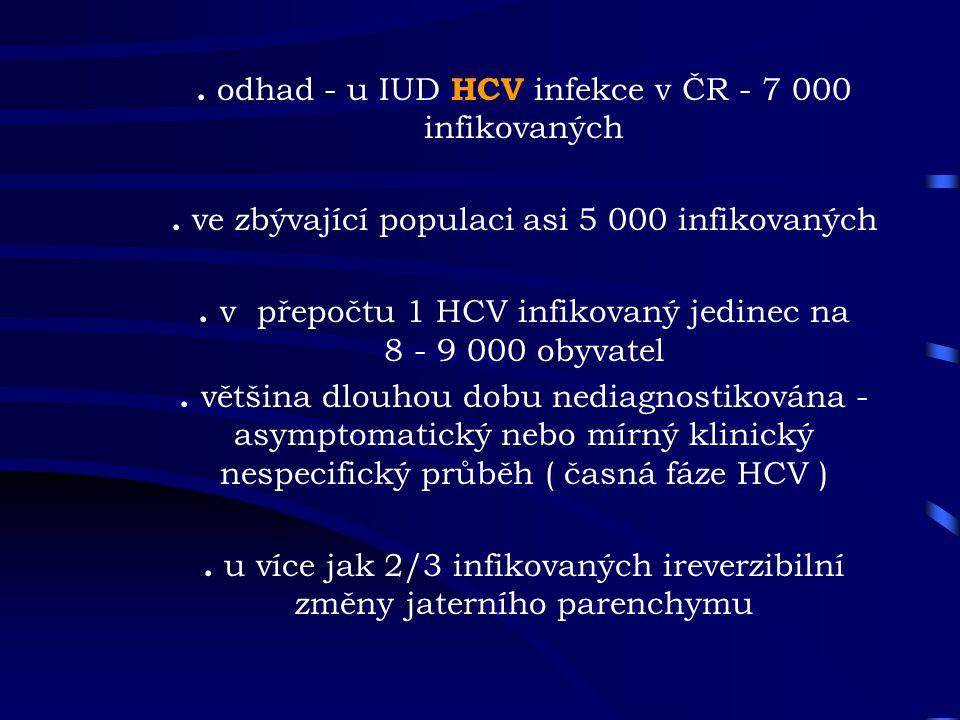 . odhad - u IUD HCV infekce v ČR - 7 000 infikovaných