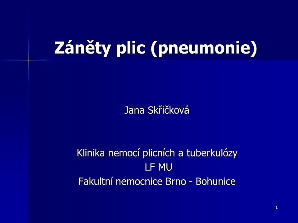 Záněty plic (pneumonie)
